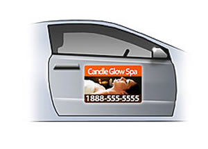 large printing services: car magnets